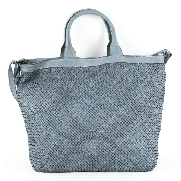 CHIARA Small Weave Tote Bag Dark Grey