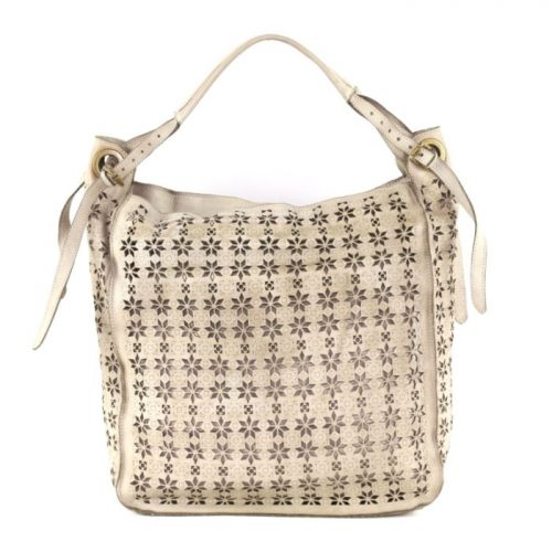GIULIA Hobo Bag With Star Laser Detail Beige