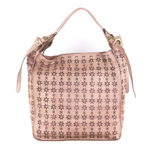 GIULIA Hobo Bag With Star Laser Detail Blush