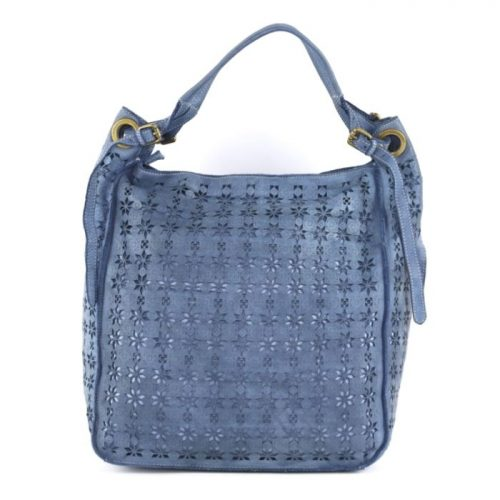 GIULIA Hobo Bag With Star Laser Detail Denim