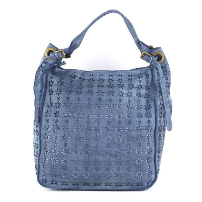 GIULIA Hobo Bag With Star Laser Detail Denim
