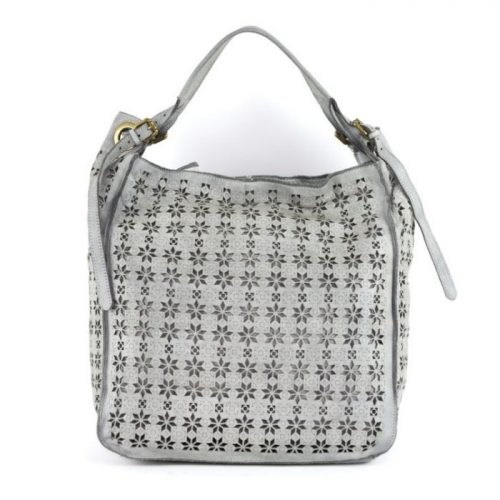 GIULIA Hobo Bag With Star Laser Detail Light Grey