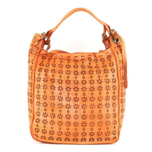 GIULIA Hobo Bag With Star Laser Detail Orange