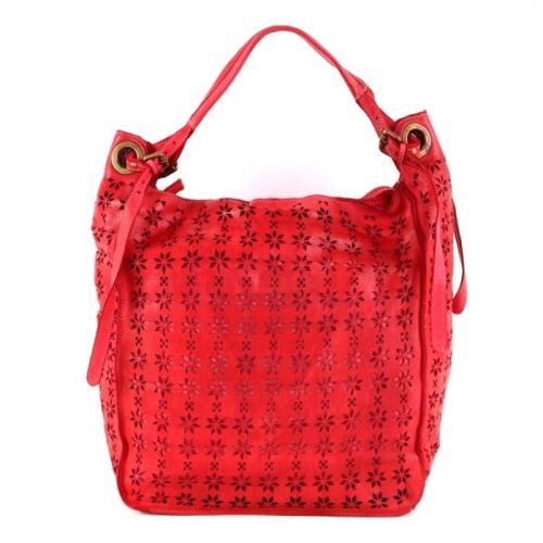 GIULIA Hobo Bag With Star Laser Detail Red