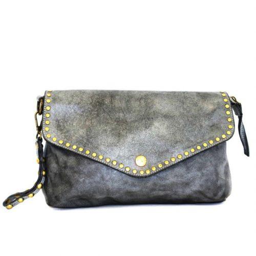 LAVINIA Studded Clutch Bag Dark Grey