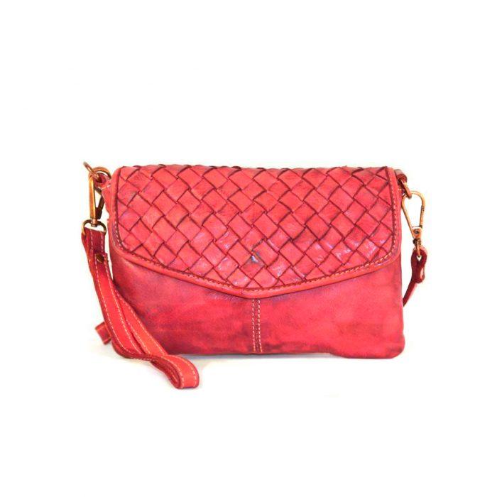 SELENE Wristlet Bag Red