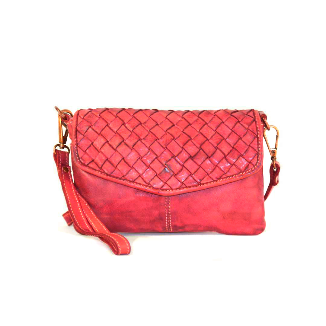 SELENE Wristlet Bag Red