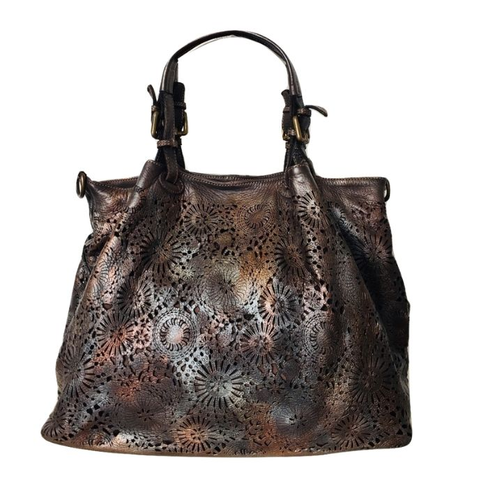 LUCIA Tote Bag Laser Cut Detail Dark Brown Limited Edition