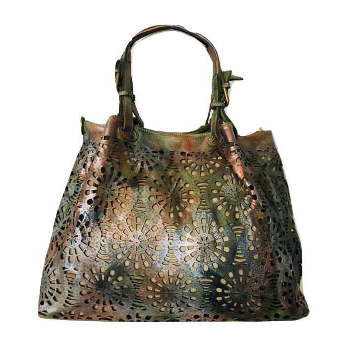 LUCIA Tote Bag Laser Cut Detail Army Green Limited Edition