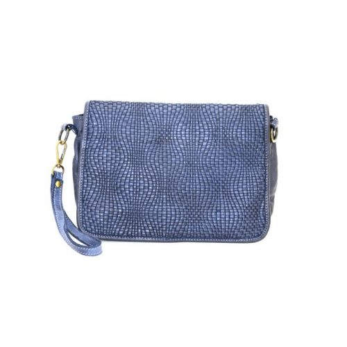 SILVIA Wave Weave Cross-body Bag Navy