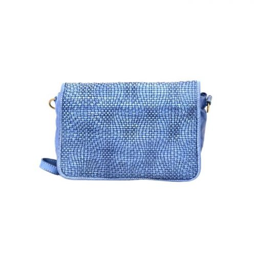 SILVINA Wave Weave Cross-body Bag Denim