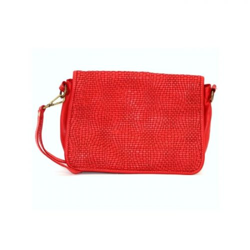 SILVINA Wave Weave Cross-body Bag Red