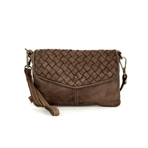 SELENE Wristlet Bag Dark Brown