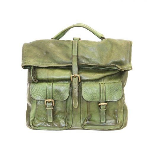 RACHELE Backpack With Two Pockets Army Green