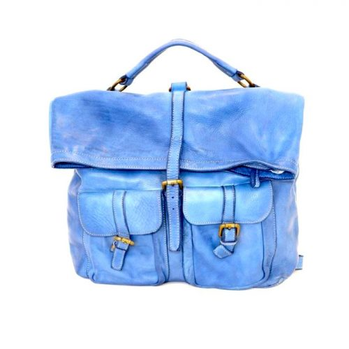 RACHELE Backpack With Two Pockets Denim