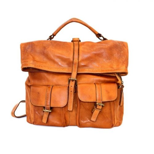 RACHELE Backpack With Two Pockets Tan