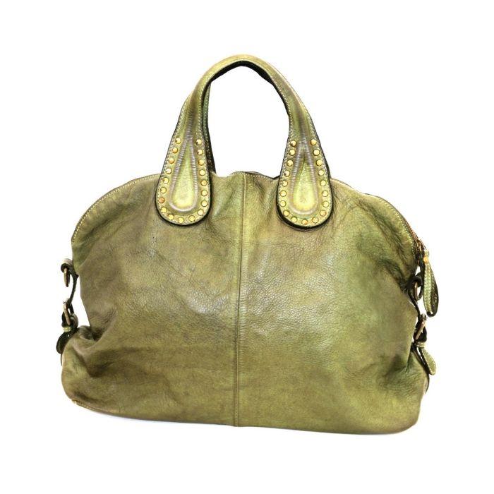 LILIANA Handbag With Studded Handle Army Green