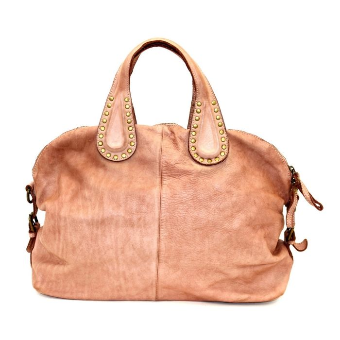 LILIANA Handbag With Studded Handle Blush