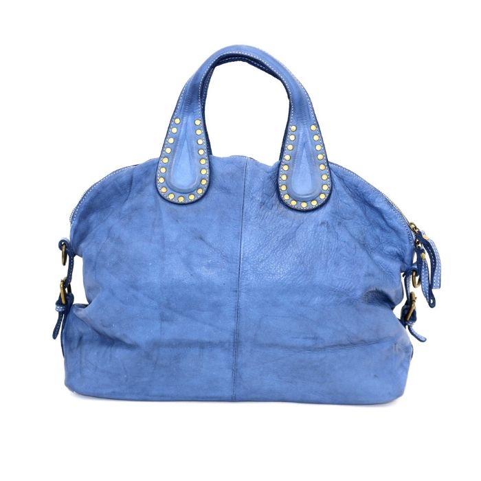 LILIANA Handbag With Studded Handle Denim