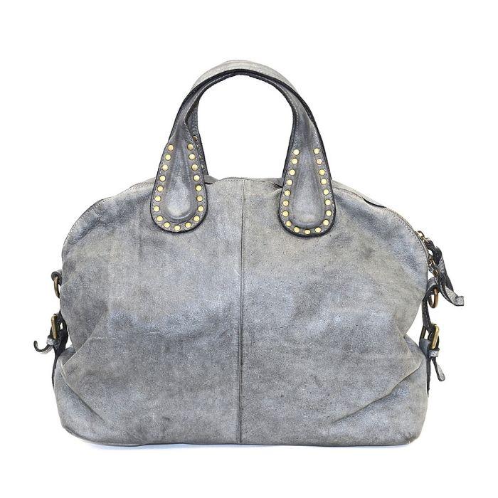 LILIANA Handbag With Studded Handle Light Grey