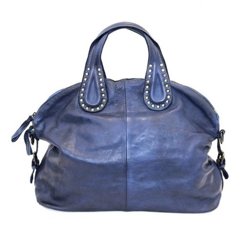 LILIANA Handbag With Studded Handle Navy