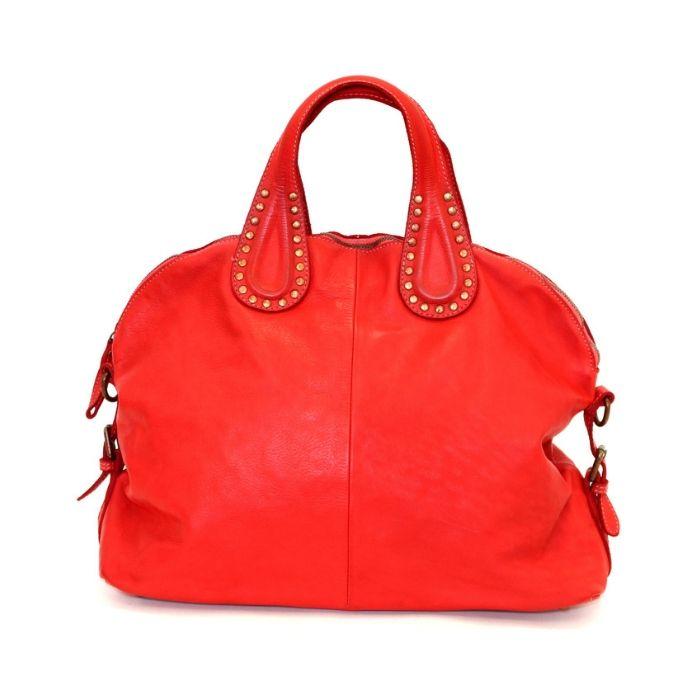 LILIANA Handbag With Studded Handle Red