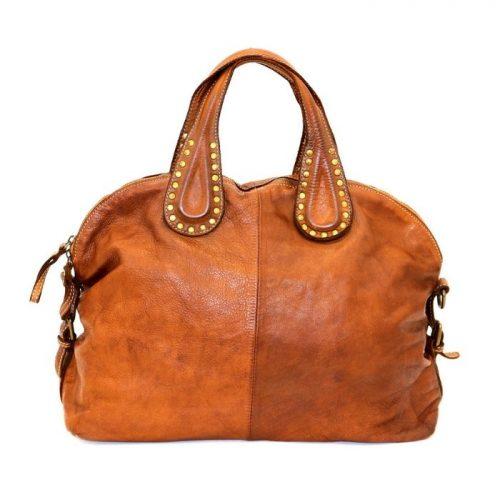 LILIANA Handbag With Studded Handle Tan