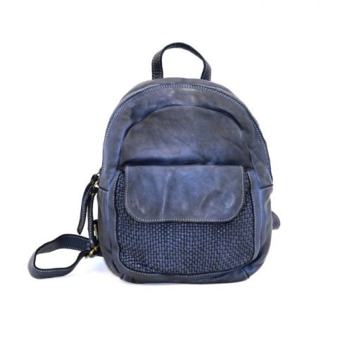 SERENA Backpack With Woven Front Pocket Navy