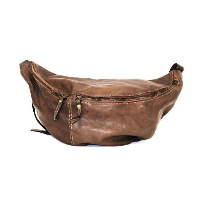 LUNA Oversized Crossbody Bumbag Dark Brown