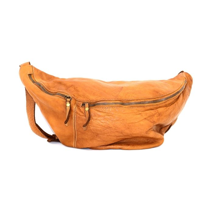 LUNA Oversized Crossbody Bumbag Tan