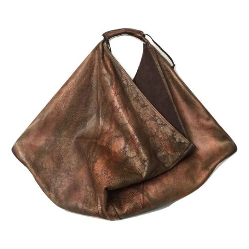 REBECCA Handbag Brown Metallic Limited Edition