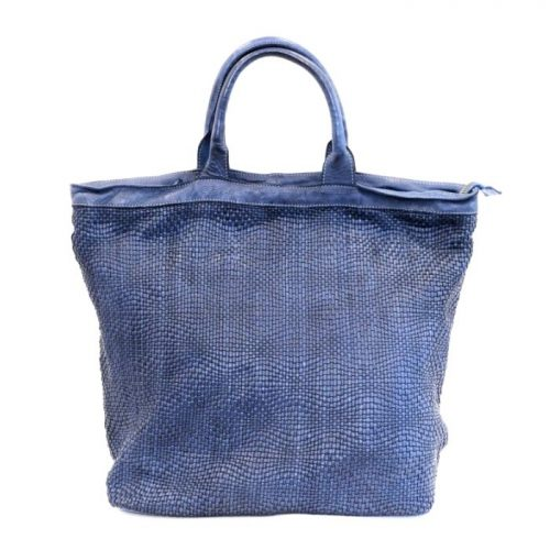 CHIARA Wave Weave Tote Bag Navy