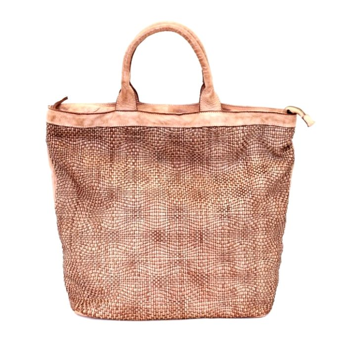 CHIARA Wave Weave Tote Bag Blush