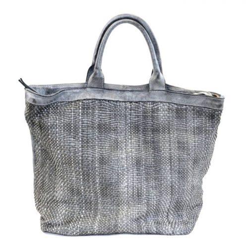 CHIARA Wave Weave Tote Bag Light Grey