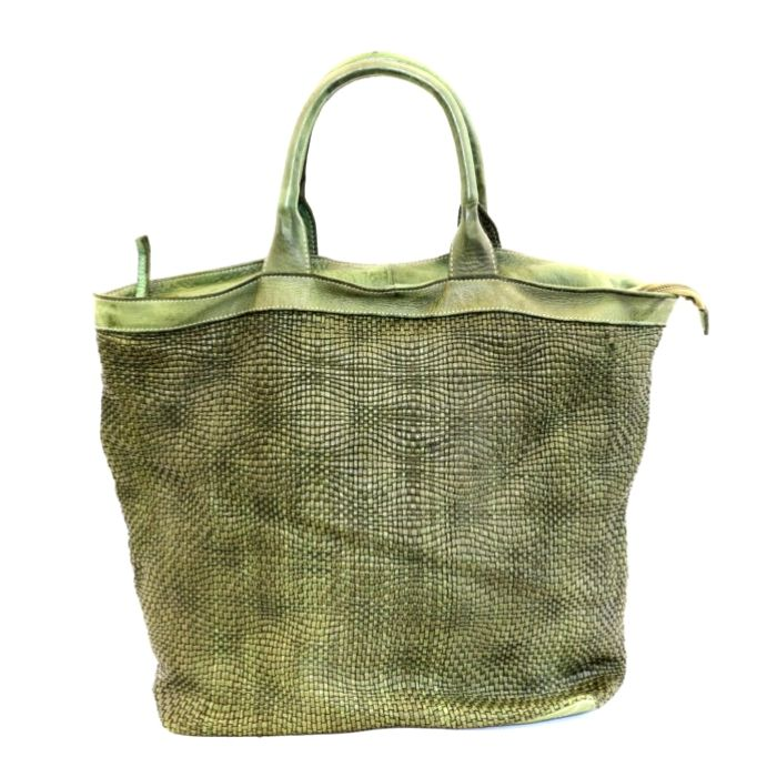 CHIARA Wave Weave Tote Bag Army