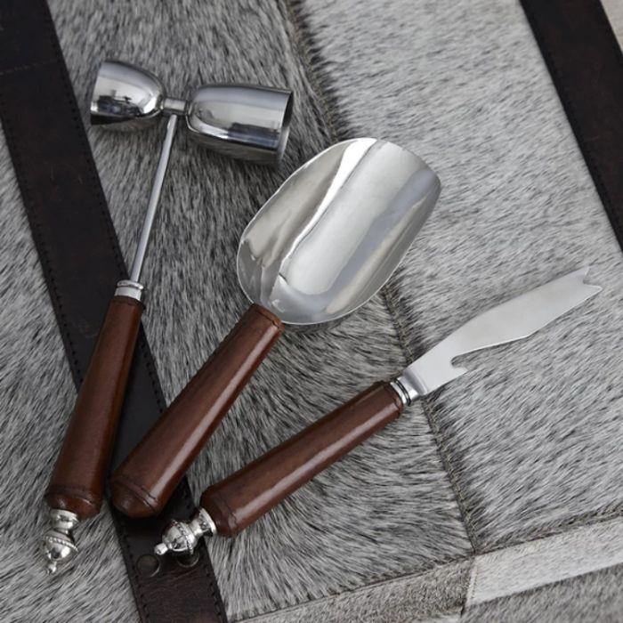 Leather Cocktail Tool Collection