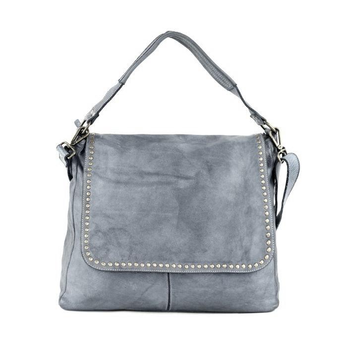VIRGINIA Flap Bag With Top Handle Dark Grey