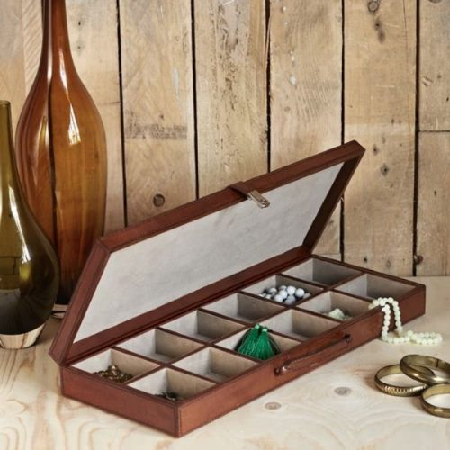 Cufflink Case With Twelve Sections