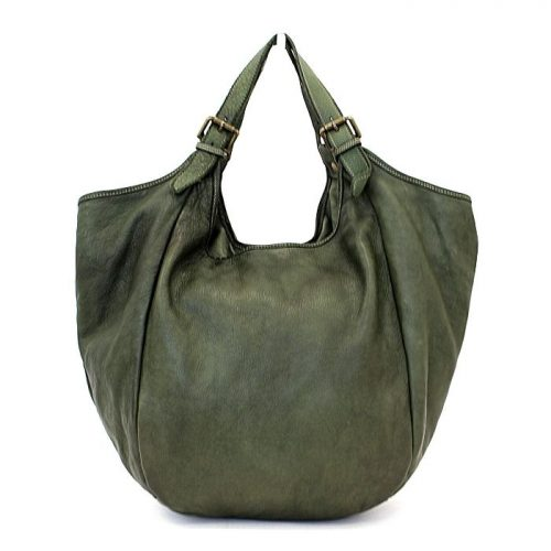 MATILDE Slouchy Hobo Bag Army Green