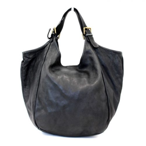 MATILDE Slouchy Hobo Bag Black