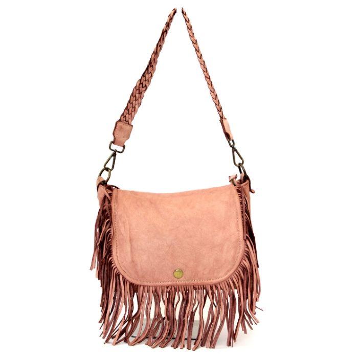 CAMILLA Shoulder Bag With Fringes Blush