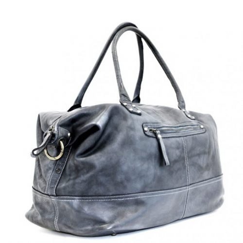 FIONA Large Duffle Weekender Travel Bag Grey