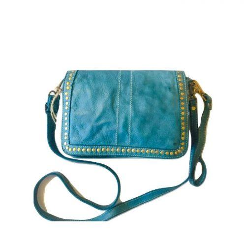 SILVINA Cross-body Bag With Studs Teal