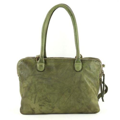 YOLANDA Shoulder Bag With Three Compartments Army Green