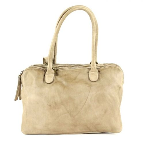 YOLANDA Shoulder Bag With Three Compartments Beige