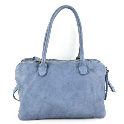 YOLANDA Shoulder Bag With Three Compartments Denim