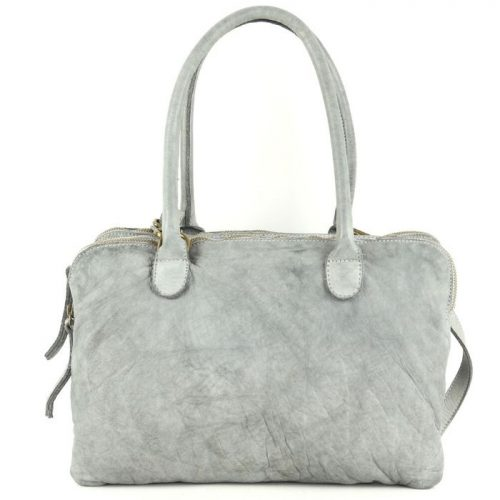 YOLANDA Shoulder Bag With Three Compartments Light Grey