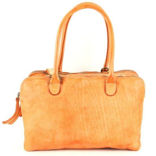 YOLANDA Shoulder Bag With Three Compartments Orange