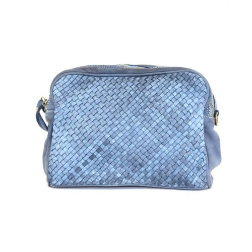 PAOLA Woven Crossbody Bag Denim