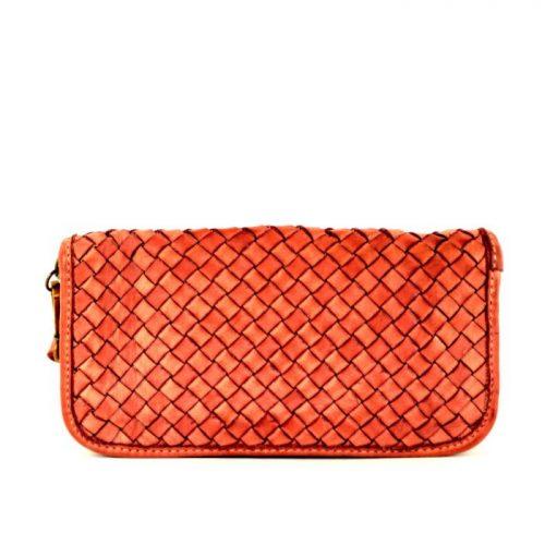 SIMONETTA Woven Wrist Wallet Orange